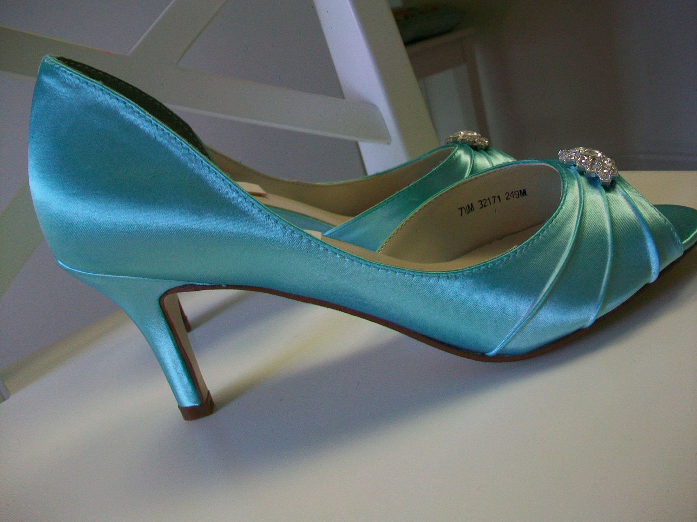 Wedding Shoes Aqua Blue Crystals Aqua Blue Wedding