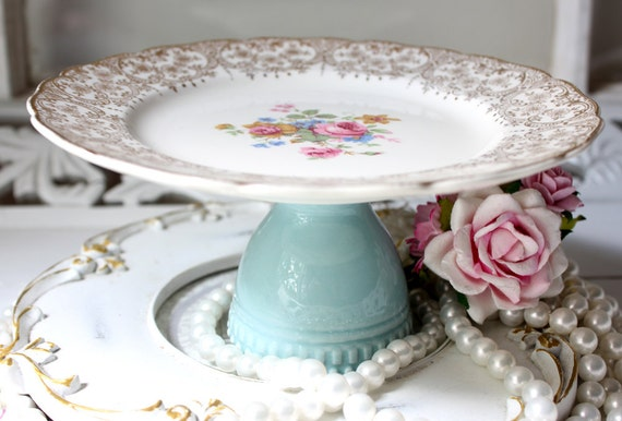 Cupcake plate dessert pedestal Small Cake Plate Cupcake Stand Vintage China