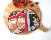 american diner style pair of potholders
