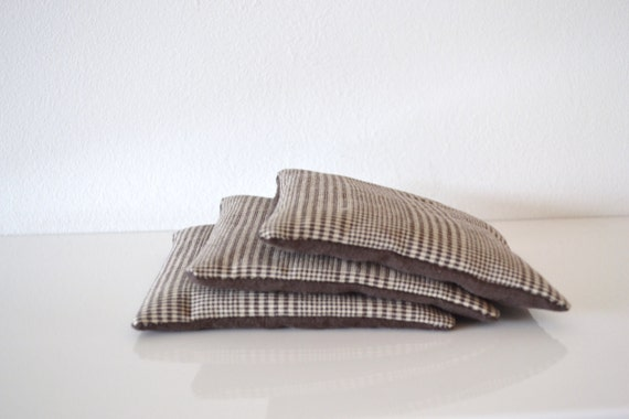 gift for him, brown lavender sachets - twill and linen pattern sachets - minimal and modern for him - bedroom sachets - masculine gift