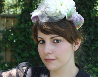 Ramona// Lively Handmade Gerbera Daisy Vintage Fabric Headband
