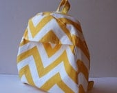 toddler backpack -- chunky chevron in sunshine