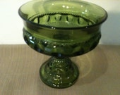 Vintage Green Carnival Glass Candy Dish Was 19.99
