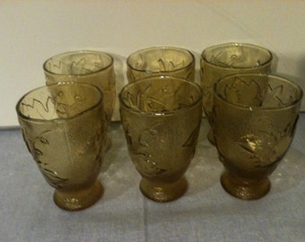 Amber Juice Glasses Set of Six