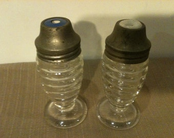 Depression Glass Hazel Atlas Salt and Pepper Shakers