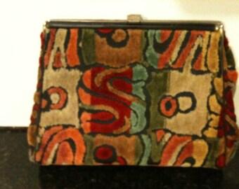 Vintage 1970s Wearwell Tapestry Clutch Purse was 29.99