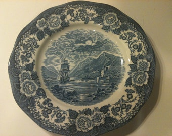 Vintage Delft Blue Plate by Royal Warwick