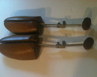 Vintage Pair of Adjustable Wooden Shoe Stretchers