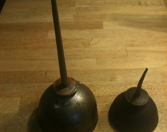 Vintage Pair of Oil Cans