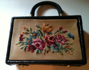 Vintage Gaymode Black Weave Purse