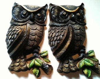 Pair of Vintage Owls