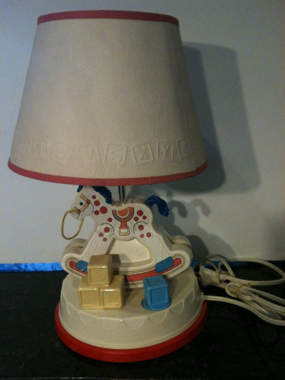Vintage 1984 Fisher Price Nursery Lamp was 21.99