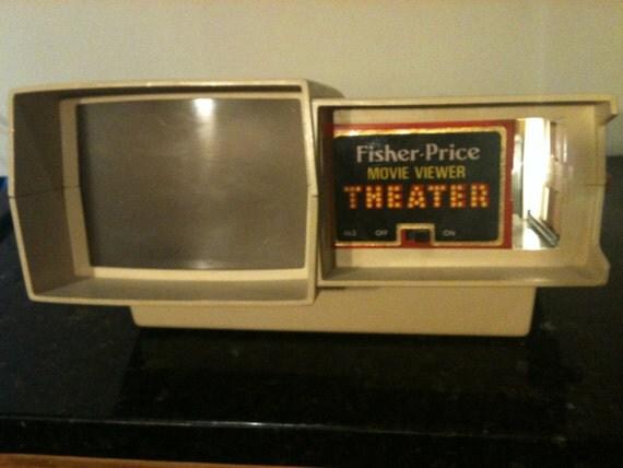 Vintage Fisher Price Movie Viewer Theater