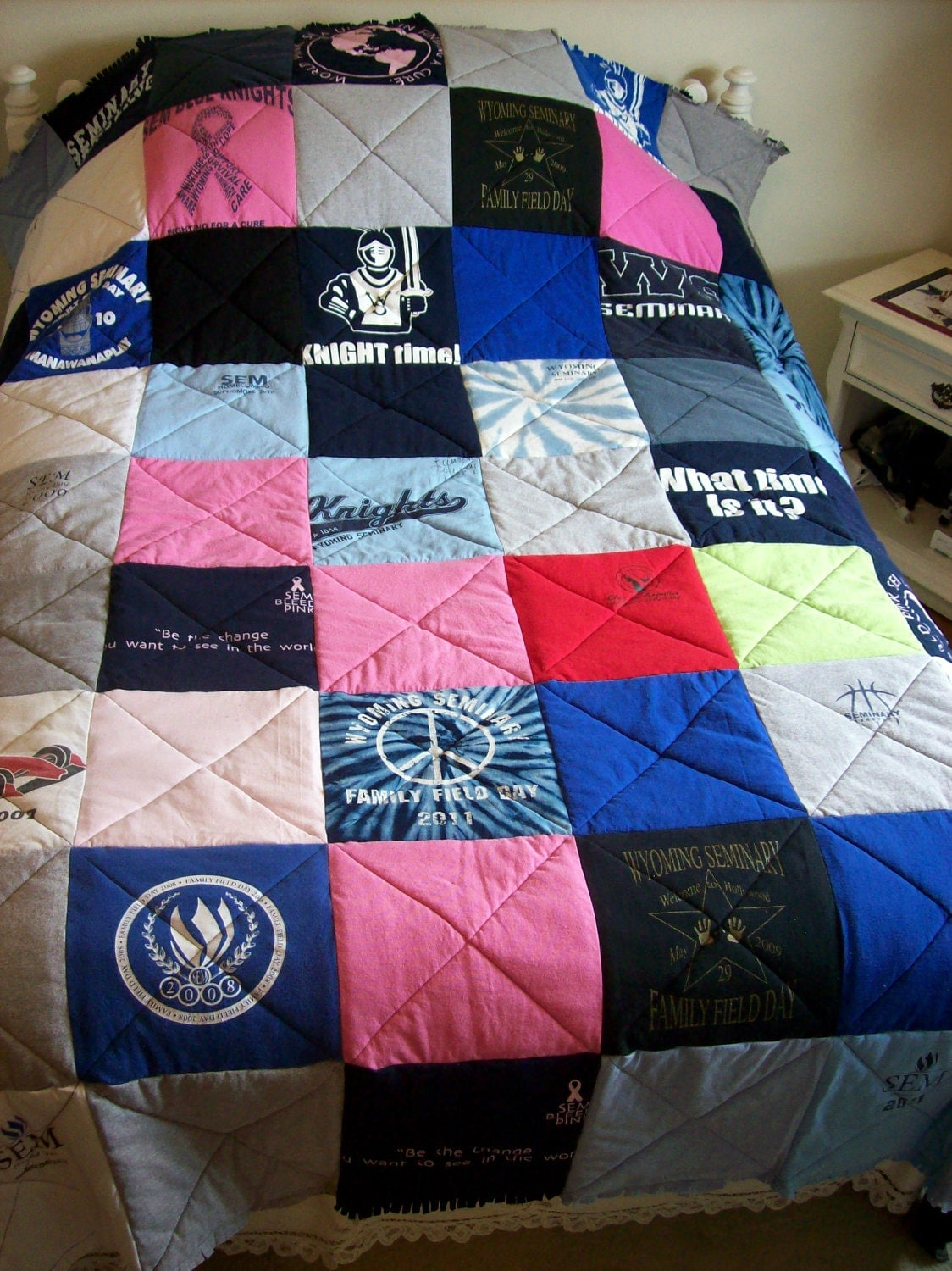 Tshirt Quilt T Shirt Memory Blanket Tee Quilt Custom Made From