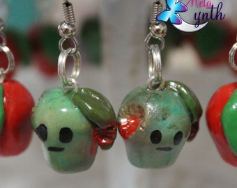 Rotten Apple Polymer Clay  Earrings