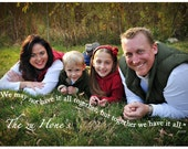We may not have it all together Family Portrait - Photo to Art - 11x14