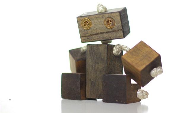 Toy robot, wood robot, children's gift, handmade robot, ooak