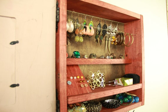 Jewelry organizer, jewelry storage, Jewelry display,  jewelry holder, Jewelry closet, Jewelry cabinet..... Handmade by TangleandFold