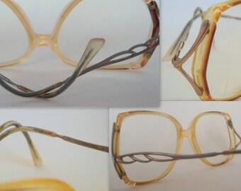 Vintage Oversized Gold Opaque Frames