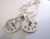Custom 2 Name Necklace for Mom