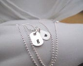Dainty Dog Tags in Sterling Silver