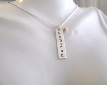 Custom Listing for Jayme for a Rectangle Sterling Silver Tag - no chain
