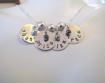 Custom 4 Name Necklace for Mom