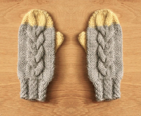 Knitting Pattern For Chunky Wool Mittens : Unavailable Listing on Etsy