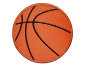 "Basketball Appliques Machine Embroidery Design Applique Pattern in 4 sizes 3"", 4"", 5"" and 6"""