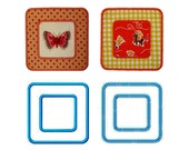 """Square Frames Appliques Machine Embroidery Designs Applique Patterns 2 variations in 5 sizes each 2"""", 3"""", 4"""", 5"""" and 6"""""""
