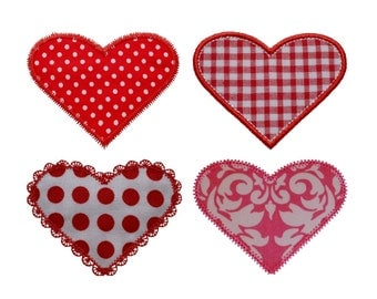 "Sweet Heart Appliques Machine Embroidery Designs Applique Patterns 4 variations in 4 sizes 2"", 3"", 4"" and 5"""