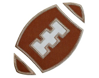 "Fun Football Appliques Machine Embroidery Design Applique Pattern in 3 sizes 4"", 5"", and 6"""