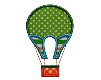 "Vintage Hot Air Balloon Machine Embroidery Design Applique Pattern in 4 sizes 4"", 5"", 6"" and 7"""