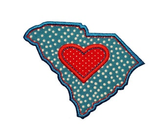 "South Carolina Range Machine Embroidery Designs Applique Patterns 2 variations in 4 sizes 3"", 4"", 5"" and 6"""