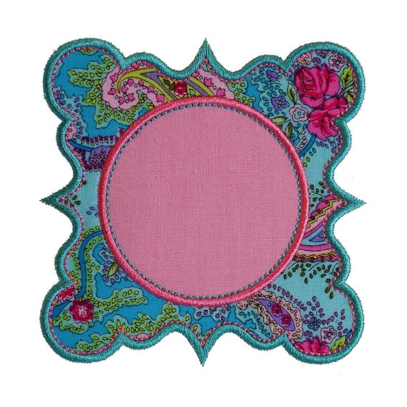 "Fairytale Frame Appliques Machine Embroidery Design Applique Pattern in 4 sizes 3"", 4"", 5"" and 6"""