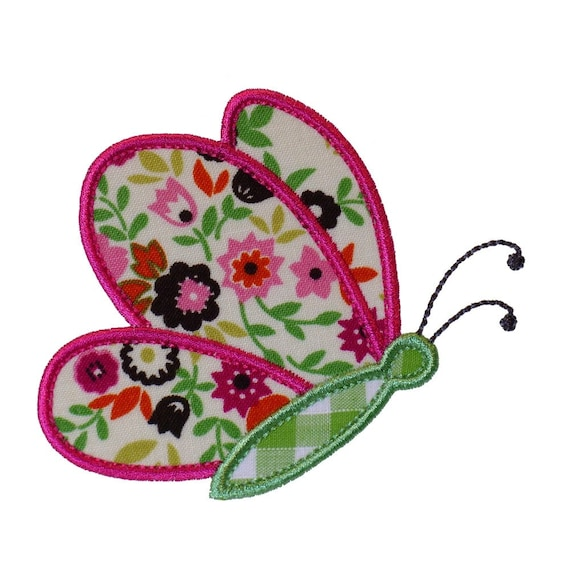 """Butterfly Flying By Appliques Machine Embroidery Designs Applique Pattern in 3 sizes 4"""", 5"""" and 6"""""""