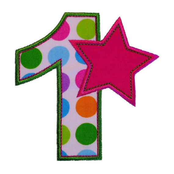 Number one first birthday set machine by bigdreamsembroidery