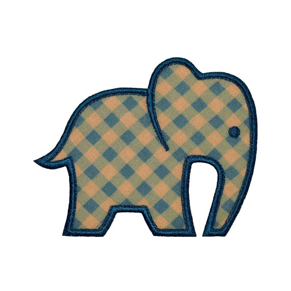 Baby Elephant Appliques Machine Embroidery By