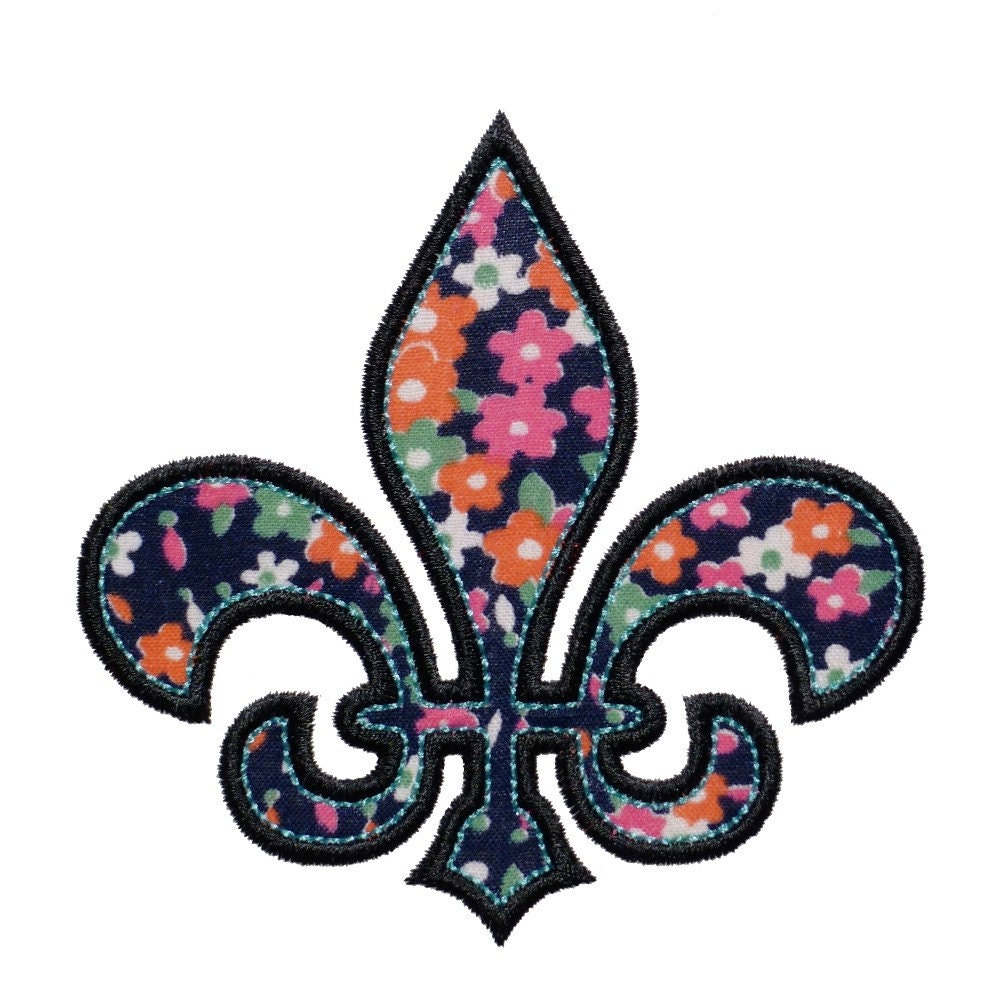 Fleur de lis appliques machine embroidery designs applique