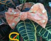 Orange Geometric , Bowties, Bow Ties, Necktie, Neckwear, Business,