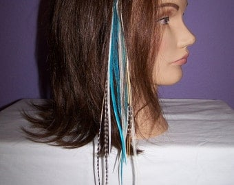 Feather Hair Extension -Caribbean Pixie