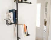 Industrial Pipe Bookshelf without Oil Candle. home and garden, furniture, bookshelf