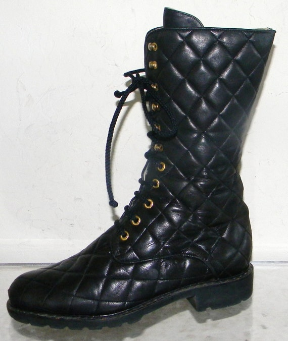 Quilted Combat Boots Combat Boots Sooo Chanel