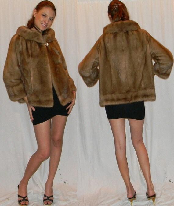 reserved for Mardi  designer OLEG CASSINI 50s 60s mink jacket