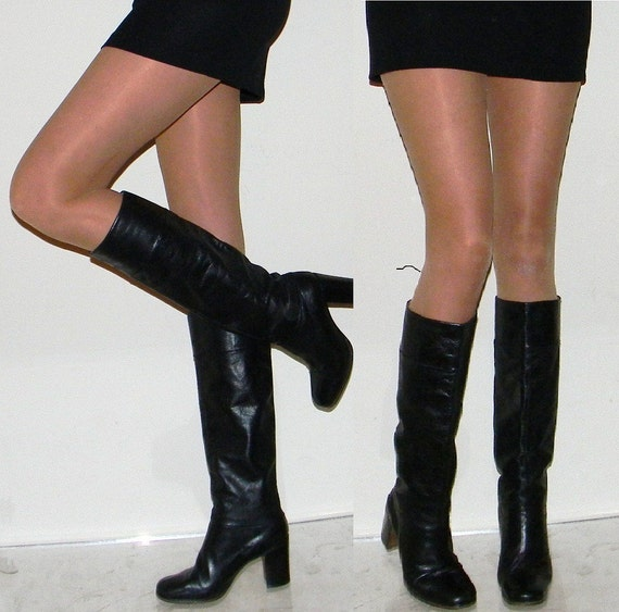reserved for Jennifer sz 7 70s NICE campus slouch boots leather lined leather sole