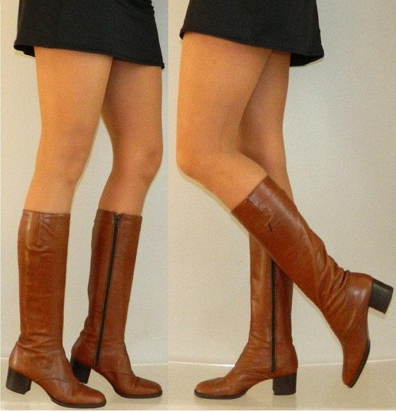 sz  9.5  70s 80s ITALIAN zip up campus boots Bandelino