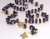 SALE 40% OFF - Blue Goldstone Catholic Rosary