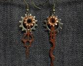 Asymmetrical Clockwork Earrings ((SM))