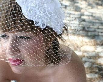 The LUCY - vintage birdcage veil