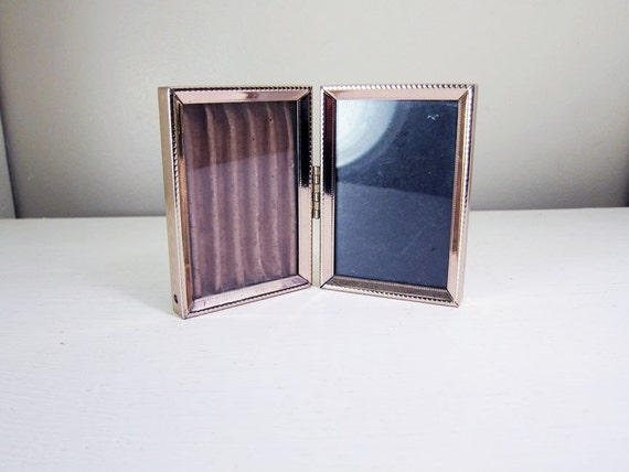 Double Photo Frame . Tiny . 1980s